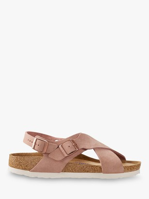 Birkenstock Tulum Narrow Fit Suede Cross Strap Sandals, Pink
