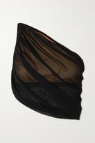 Thumbnail for your product : Norma Kamali Diana One-shoulder Draped Bikini Top - Black