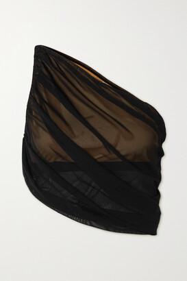 Norma Kamali Diana One-shoulder Draped Bikini Top - Black