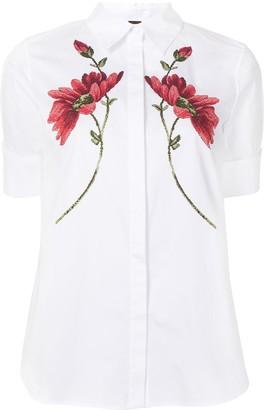 Adam Lippes Floral-Print Trapeze Shirt
