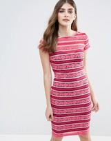 Paper Dolls Stripe Lace Bodycon Dress