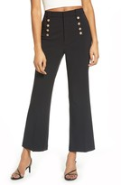 Endless Rose Semi Flare Button Pants