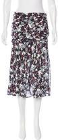Veronica Beard Floral Print Silk Skirt w/ Tags