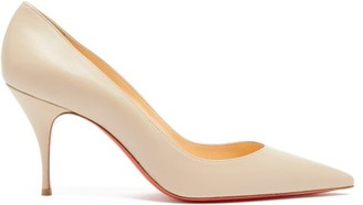 Christian Louboutin Clare 80 Leather Pumps - Nude