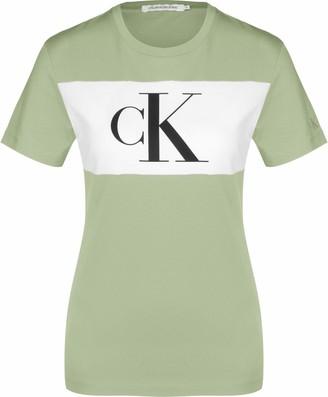 Calvin Klein Jeans Women's Blocking Monogram CK TEE Shirt