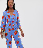 Fashion Union Tall wide leg jumpsuit in floral