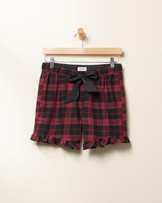 Express Upwest Plaid Flannel Pajama Short