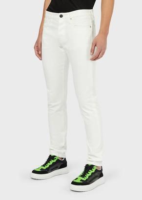 Emporio Armani Slim-Fit J75 Clean-Look Bull Jeans