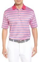 Bobby Jones Men's Xh2O Stripe Stretch Golf Polo