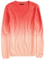 Tommy Hilfiger Final Sale-Dip Dye V Neck Sweater