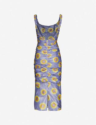 Lady Miss graphic-print shell midi dress