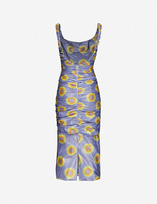Maisie Willen Lady Miss graphic-print shell midi dress