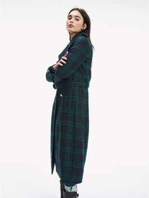 Tommy Hilfiger Wool Check Military Coat