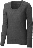 Cutter & Buck Charcoal Heather Broadview Scoop Neck Sweater - Plus Too
