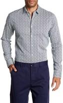 Scotch & Soda Regular Fit Printed Long Sleeve Shirt