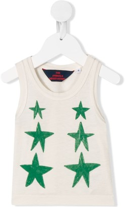 The Animals Observatory Frog star-print tank top