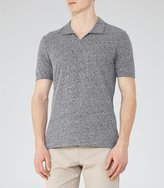 Reiss Marcelos - Open Collar Polo Shirt in Blue, Mens