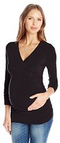 Ingrid & Isabel Women's Maternity Empire Shirred Top