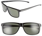 BOSS Men's 60Mm Sunglasses - Black/ Grey Green