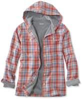 L.L. Bean Women's Fleece-Lined Flannel Plaid Hoodie