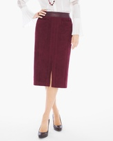 Chico's Faux-Suede Midi Skirt