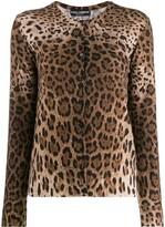 Dolce & Gabbana leopard print cardigan