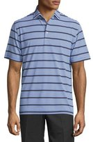 Peter Millar Hargett Striped Jersey Short-Sleeve Polo Shirt, Blue