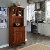Home Styles Two-Drawer 31.25 in. W Cherry Buffet with Cherry Wood Top and Hutch