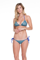 Luli Fama Braided Triangle Top In Electric Blue (L47021Z)