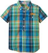 Hatley Tropical Faux Placket Shirt (Toddler/Kid) - Blue - 3T