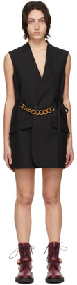 Givenchy Black Wool Chain Dress