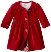 Baby Girl Blueberi Boulevard Velvet Coat & Dress Set