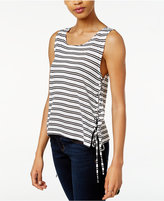 BB Dakota Loren Striped Lace-Up Top