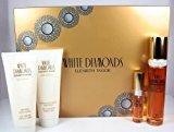 Elizabeth Taylor White Diamonds Perfume Gift Set for Women By EDT Sprays, Body Lotion & Body Wash