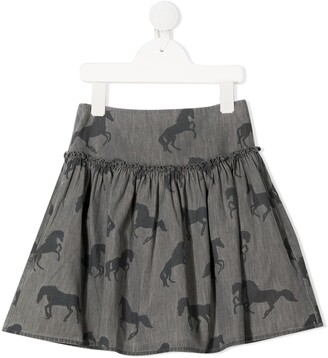 Stella Mccartney Kids Horse-Print Mini Skirt