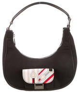 Emilio Pucci Graphic Print Woven Handle Bag
