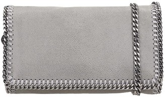 Stella McCartney Falabella Shoulder Bag In Grey Polyester