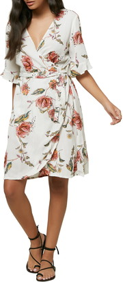 O'Neill Molly Floral Print Wrap Dress