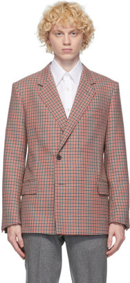 Dunhill Red Wool Houndstooth Blazer