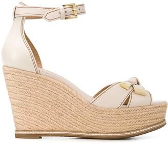 MICHAEL Michael Kors Bow-Embellished Espadrille Wedge Sandals