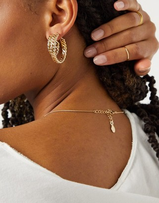 Pieces chain hoops in gold