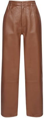 MM6 MAISON MARGIELA Five Pockets In Leather Trousers