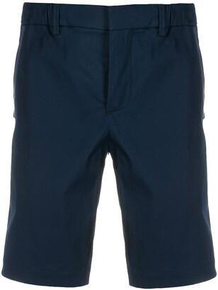 HUGO BOSS Navy Cotton Mix Chino Shorts