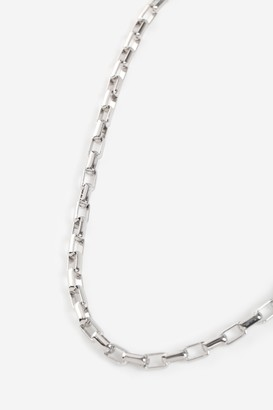 Freedom Womens **Chunky Oval Link Chain Necklace - Silver