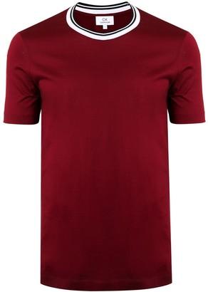 CK Calvin Klein fitted striped neck T-shirt