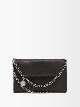 Stella McCartney New Falabella Mini Faux-suede Shoulder Bag - Black