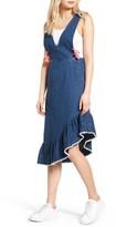 Sjyp Women's Bias Ruffle Denim Dress