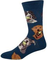 Socksmith Ball Dog Mens Antique Blue Crew Socks