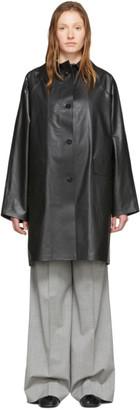 Kassl Editions Black Above-The-Knee Coat