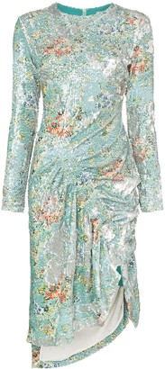 Preen by Thornton Bregazzi Daisy sequin ruched midi dress